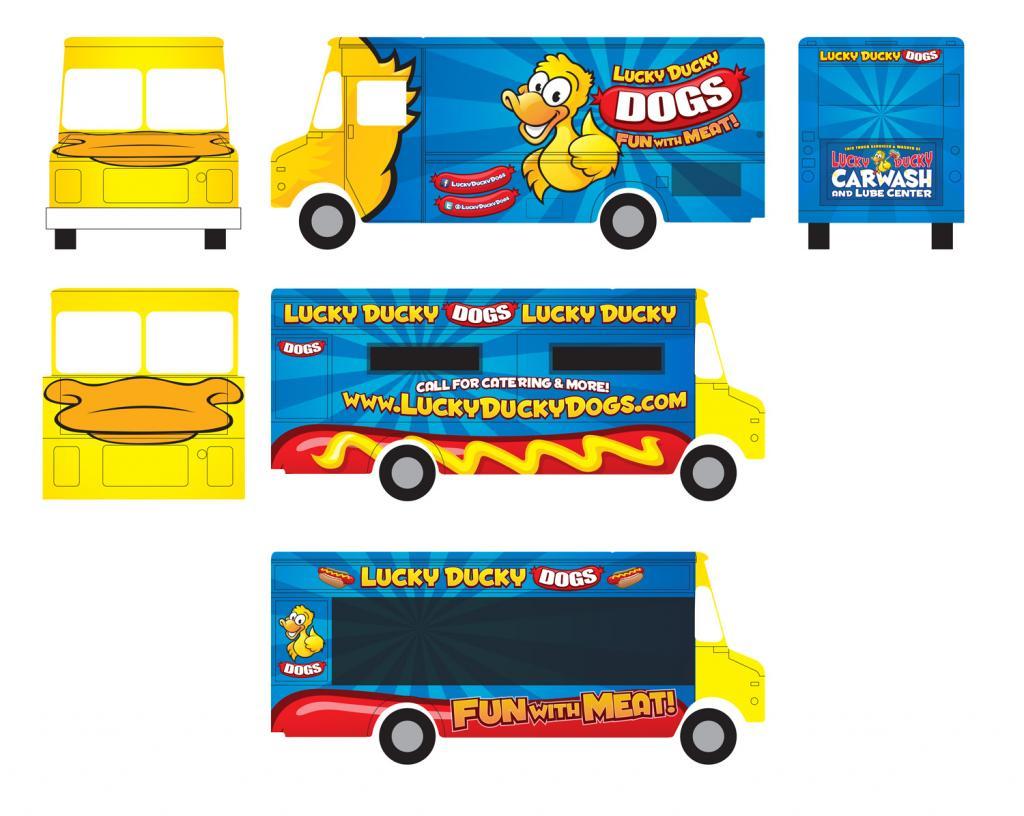 Lucky Ducky Dogs Food Truck