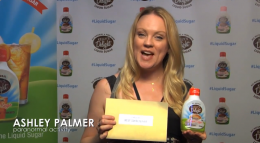 Ashley Palmer of Paranormal Activity for Kelly's Delight All-Natural Liquid Sugar