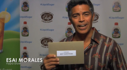 Esai Morales of NYPD Blue for Kelly's Delight All-Natural Liquid Sugar
